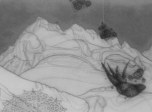 2002 Zeichnung auf Papier, Transparentpapier, Milchglas, Holz 26 x 43 cm