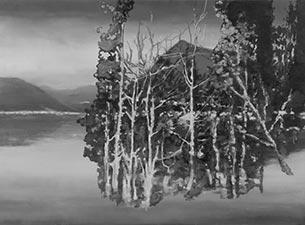 2012 Öl auf MDF, Kupfer 60 x 107 cm  Foto: Anne Gold
